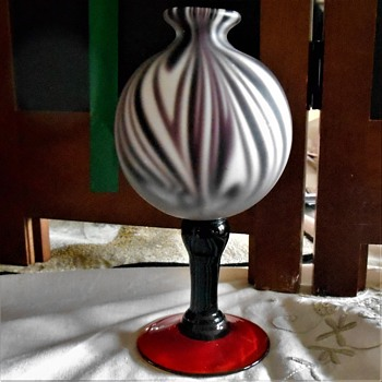 Small cased glass vessel - Art Glass