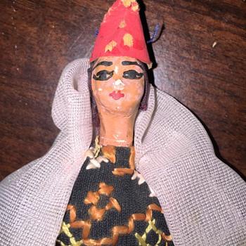 Tiny Head, painted face  Wood Block Body Doll??????