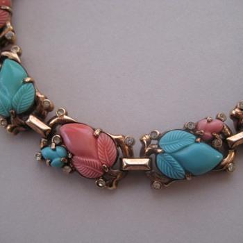Trifari Fruit Salad Bracelet Circa 1938-1942 - Costume Jewelry