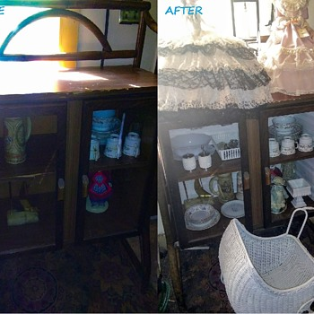 Cabinet Redo Before / After - Furniture