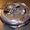Purple Glass Ashtray