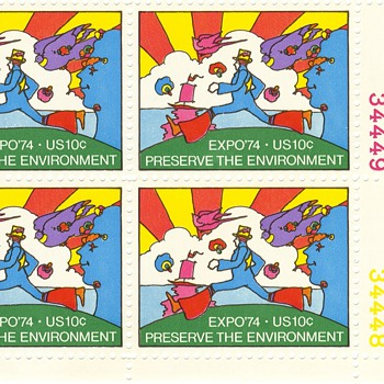 One last environment stamp - Peter Max 1974 - Stamps