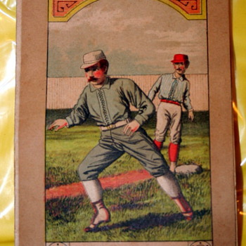 "1890's Boston V Detroit Baseball Program ""Steal Up"" Great Graphics"