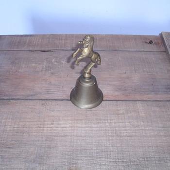 Horse brass bell.