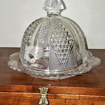 vintage butter dish - Glassware