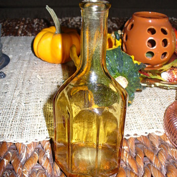 Small Amber Bottle  - Glassware