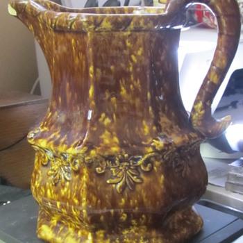 Brown drip glaze pitcher - Pottery