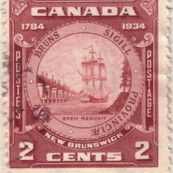 The Backward Flag - Canadian 1934 Commemorative Issue - Stamps