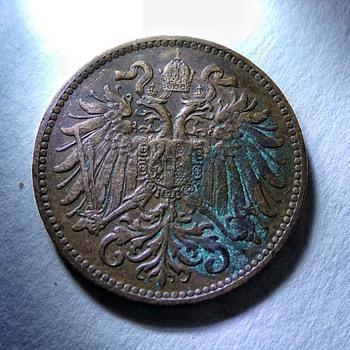 1899 2 Heller Corrosion Help? - World Coins