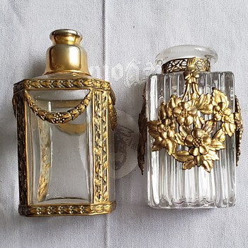 Baccarat and ? Bottles - Art Glass