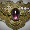 Art Nouveau, Sash Pin Brooch with amethyst stone.Late 1800 early 1900