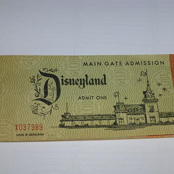A complete 1958 Disneyland ticket book I found in a box