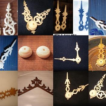 My work, custom hand carved wood parts & bone hands.