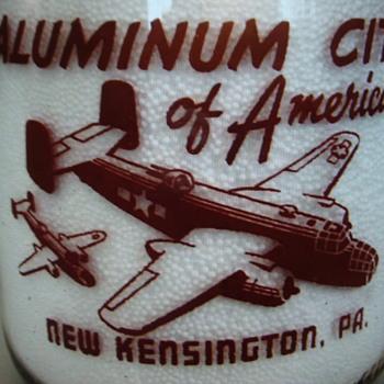 KEYSTONE DAIRY CO. NEW KENSINGTON,PENNSYLVANIA....WAR PLANES - Bottles