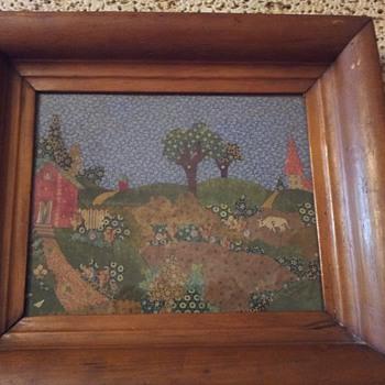 Primitive fabric scraps picture
