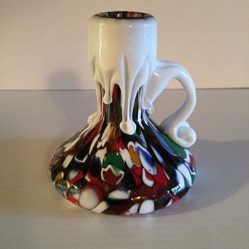 Millefiori Candle Stick - Art Glass