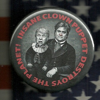 Anti Trump pinback button