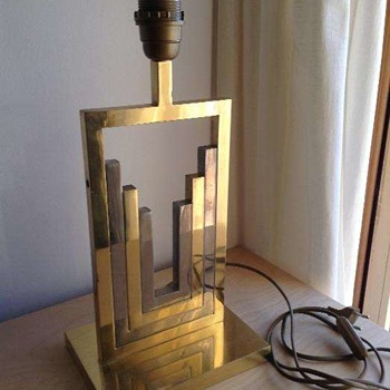 Brass and unknown metal table lamp - Lamps