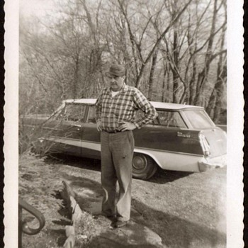 1959 - Family Photograph - Grandpa & his Plymouth - Photographs