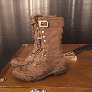 Worn Boots Sculpture - Fine Art