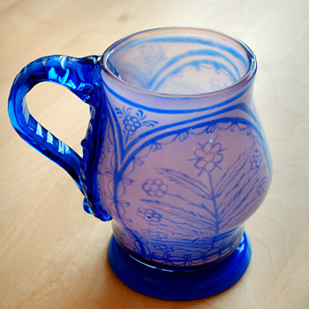 Early GRAAL tankard glass, Knut Bergqvist Orrefors 1916. - Art Glass