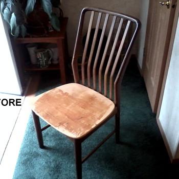 Sven Madsen Teak Side Chair Restored to it's Former Glory !