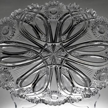 Brilliant Cut Glass Tray - Glassware