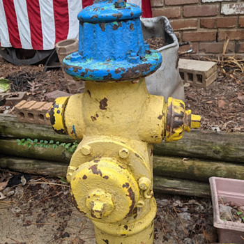 my new antique FIRE HYDRANT!!  - Firefighting