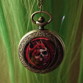 pocket watch gothic horror red and black is back  - Pocket Watches