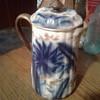 Blue flow? Flossie's hot chocolate pot