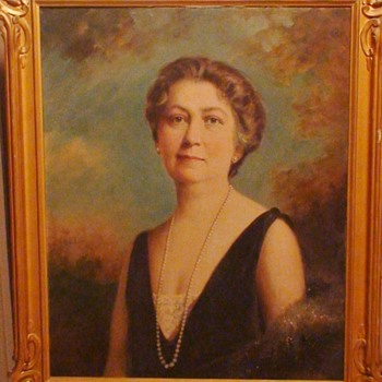 Portrait Of A Lady By Austin Shaw Canadian - Fine Art