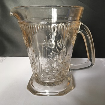 Vintage glass pitcher  - Glassware