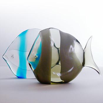 Fish sculptures Flavio Poli  (Seguso Vetri d'Arte, 1950s) - Art Glass