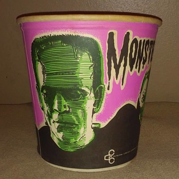 1960's Monster Popcorn Bucket  - Toys