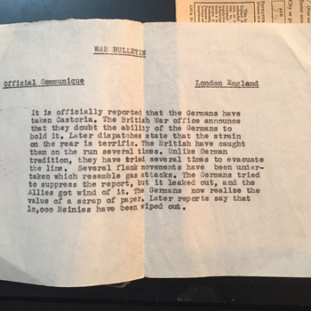 Military identification card along with War bulletin and ration cards - Military and Wartime