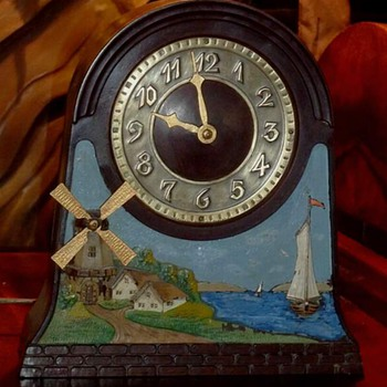 "Chronart ""Ye Olde Windmill"" Clock"