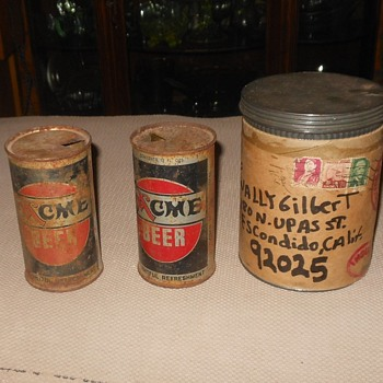 Vintage Acme Beer Cans for Wally - Breweriana
