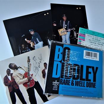Bo Diddley Autographed Rock Memorabilia - Records