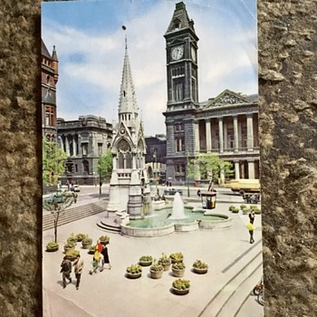 Old Birmingham, chamberlain square, June 1966. - Postcards