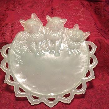 westmoreland Glass kittens