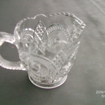 U.S. Glass Co. #15094 Caledonia c1906 creamer - Glassware