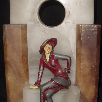 1925 J B Hirsch Sophisticated Lady Clock Case - Art Deco