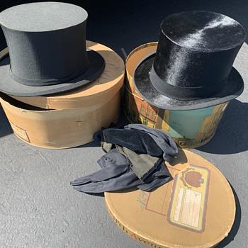 Silk Antique top hats w/ original boxes - Hats