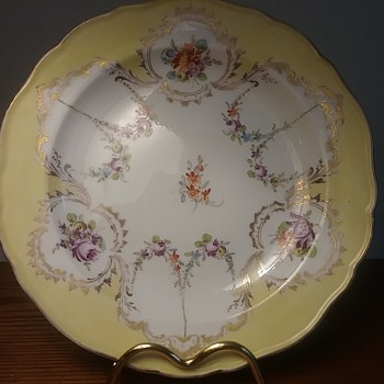 Meissen yellow cabinet plate - China and Dinnerware