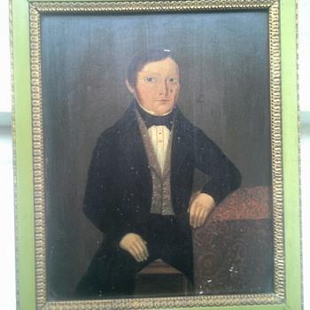 portrait painted on metal sheet - Fine Art