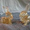 A pair of Seguso gold bunnies