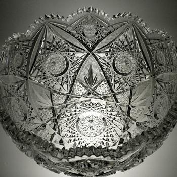 """Bowl cut in """"Design #100"""", by Elmira Cut Glass Co. - Glassware"""