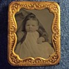 Tintype Baby Photo & Frame Marked Worcester Mass. 1861