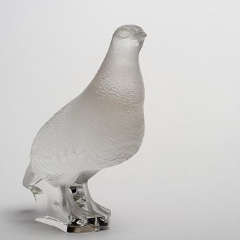 """Lalique """"Perdrix Debout"""" quail"""