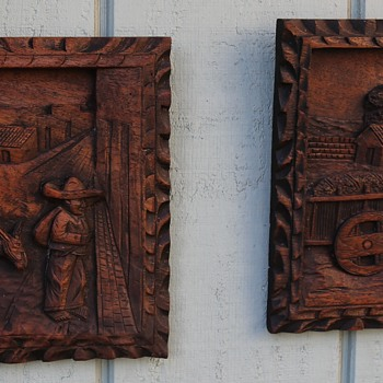 Carved Mahogany Plaque from Mexico - Fine Art